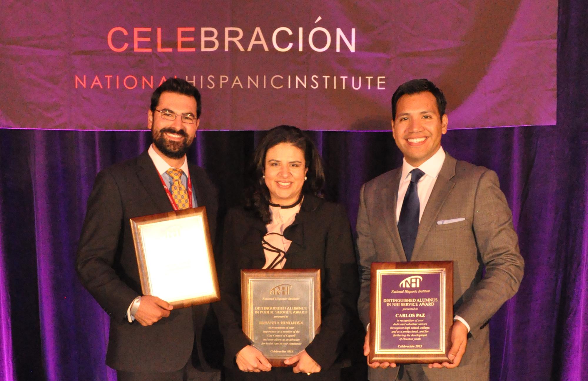 2015 NHI Distinguished Alumni Award winners