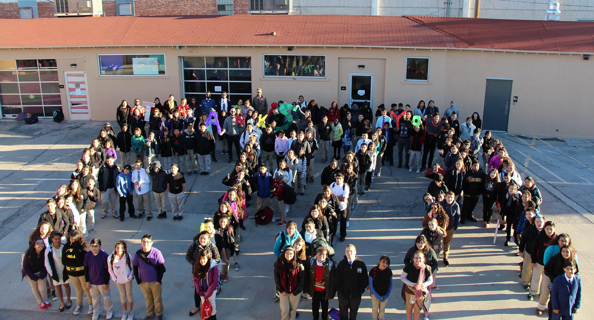 El Paso Leadership Academy students