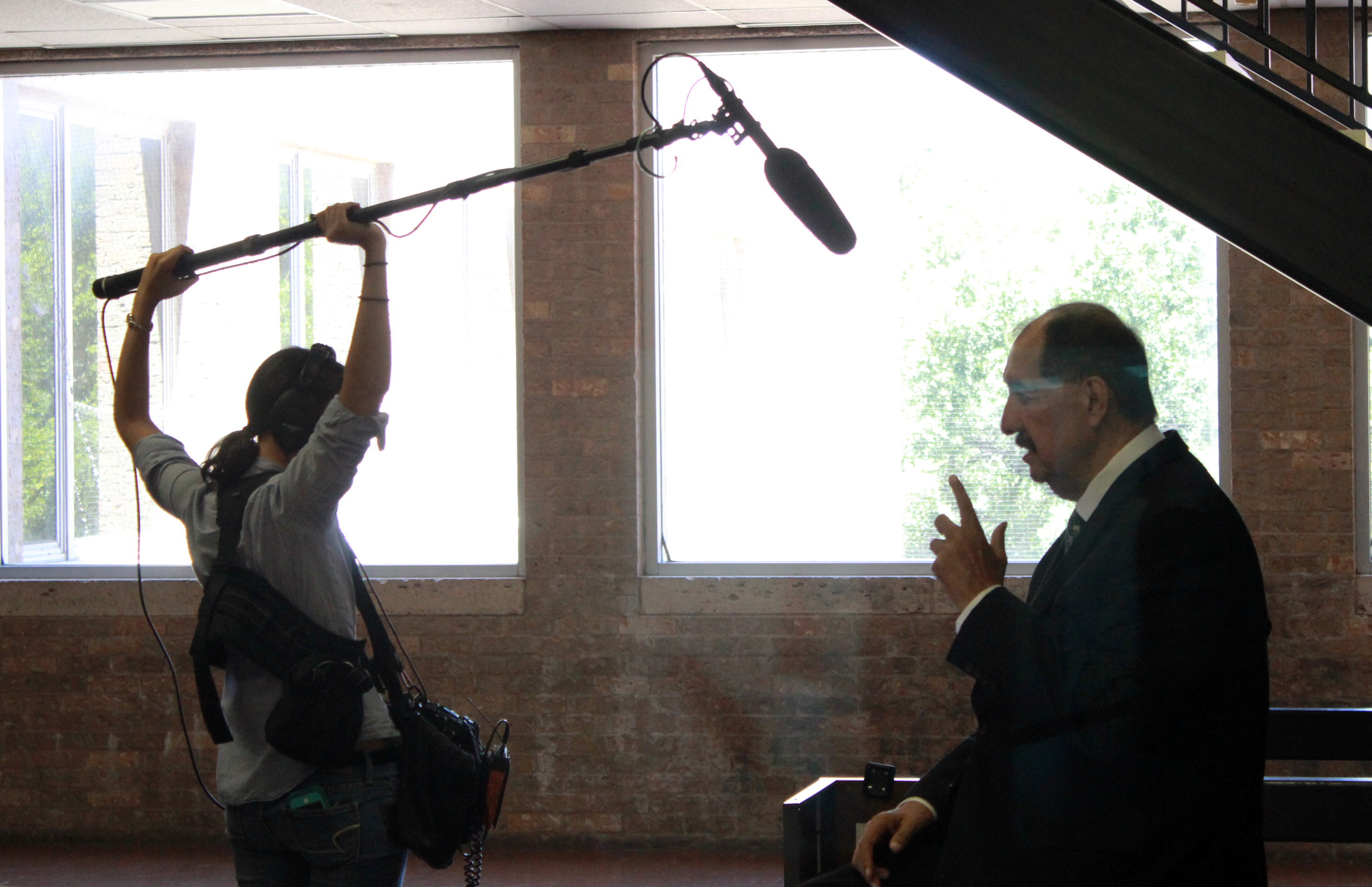 Ernesto Nieto being recorded