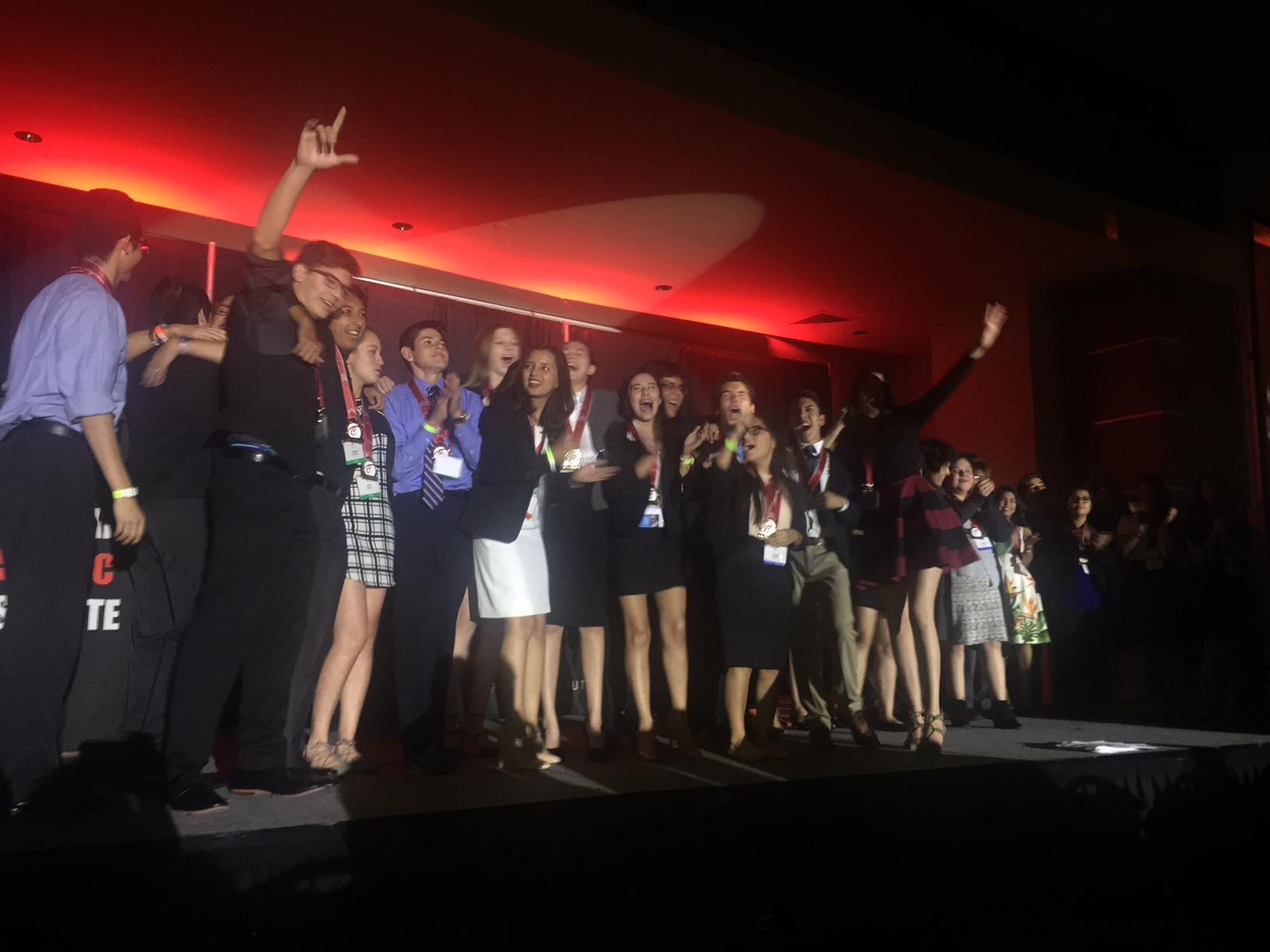Students from the LIT team celebrate their 2016 Celebracion victory