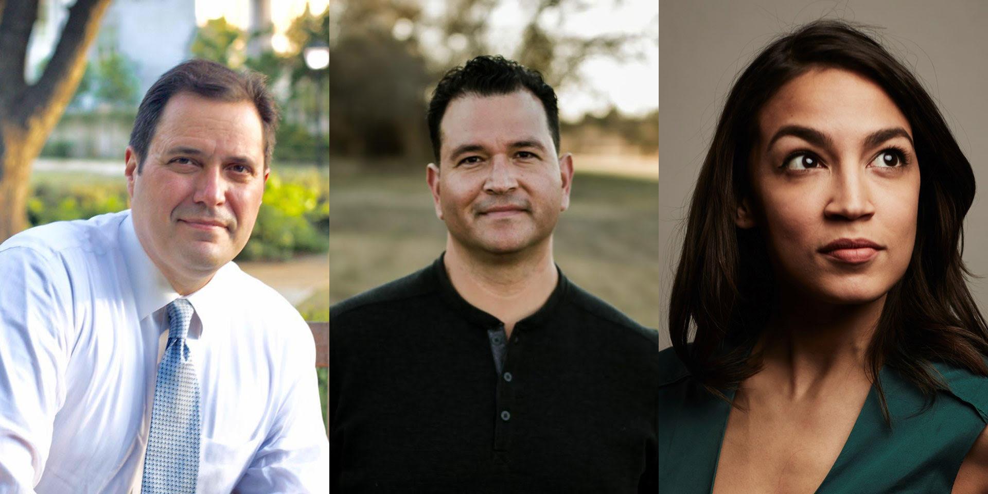 George Rodriguez, Miguel Levario, and Alexandria Ocasio-Cortez, NHI Congressional Candidates