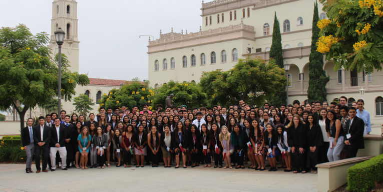2017 California LDZ students at the University of San Diego
