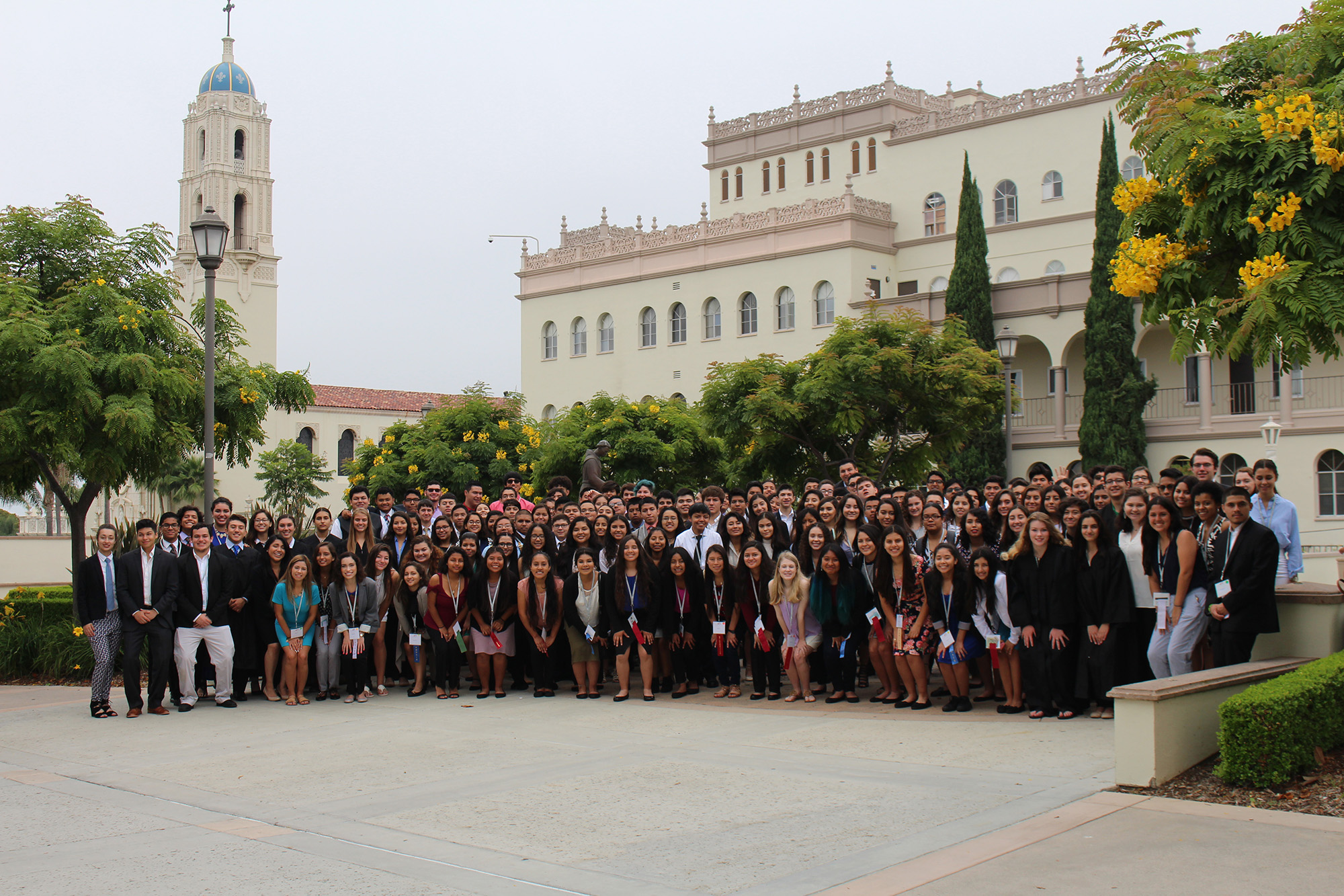 2017 California LDZ students at the University of San Diego