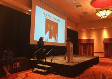 Texas State Rep. Mary Gonzalez receives her Distinguished Alumni award at Celebracion 2017
