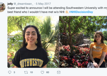 A sample tweet from last year's NHI Decision Day