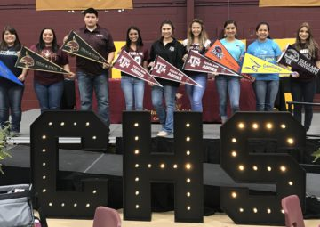 Cotulla HS students make their college choices known
