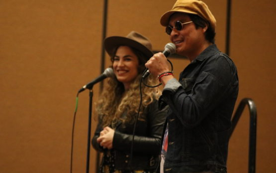 Periko y Jessi Leon speak at Celebracion 2018.