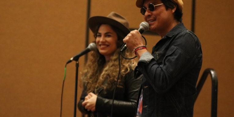 Periko y Jessi Leon speak at Celebracion 2018.