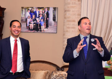 Presidential candidate Julian Castro with NHI Distinguished Alumni Award winner Analco Gonzalez