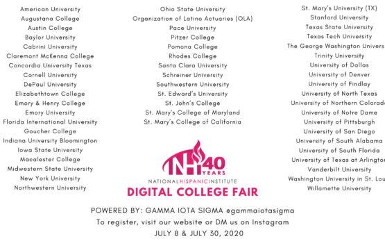 NHI College Fair lineup