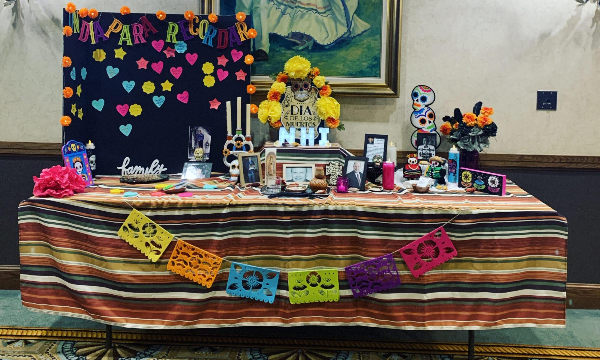 dia de los muertos altar at nhi celebracion